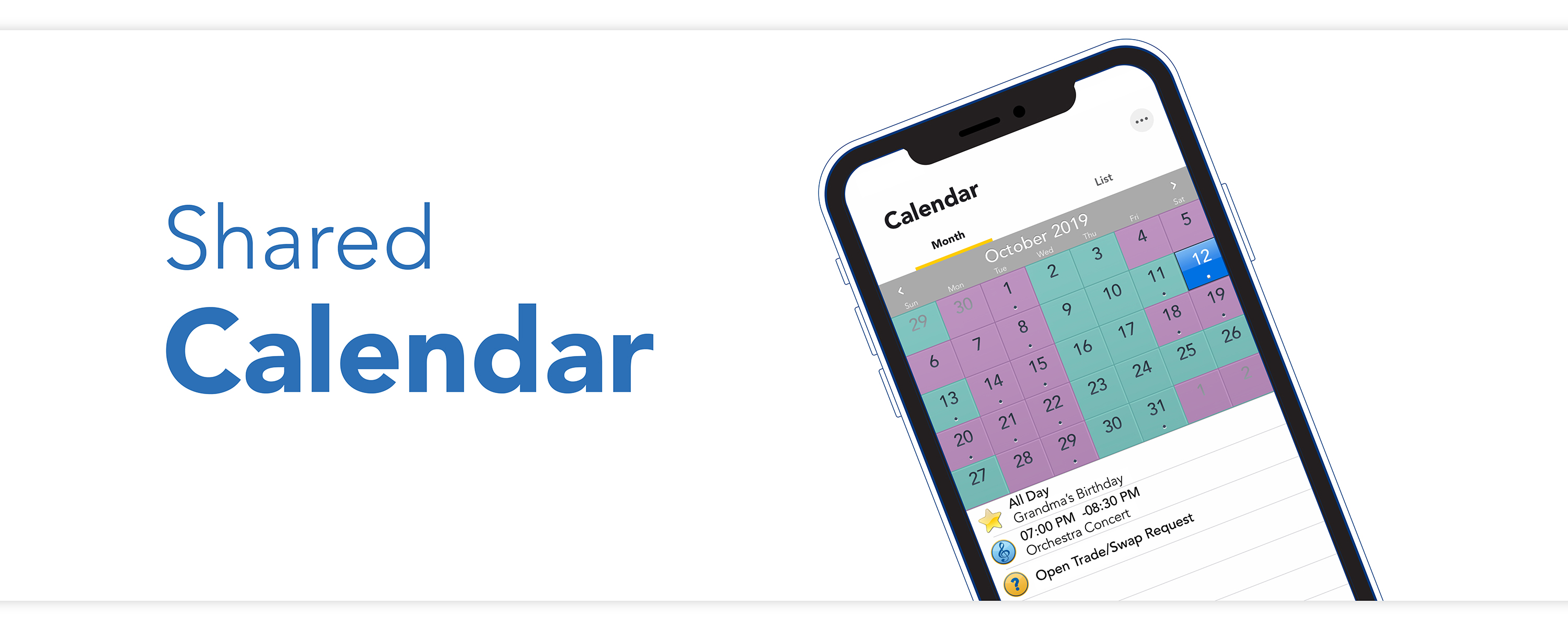 Check your parenting time, schedule events, and more with the shared calendar on the OFW mobile app.