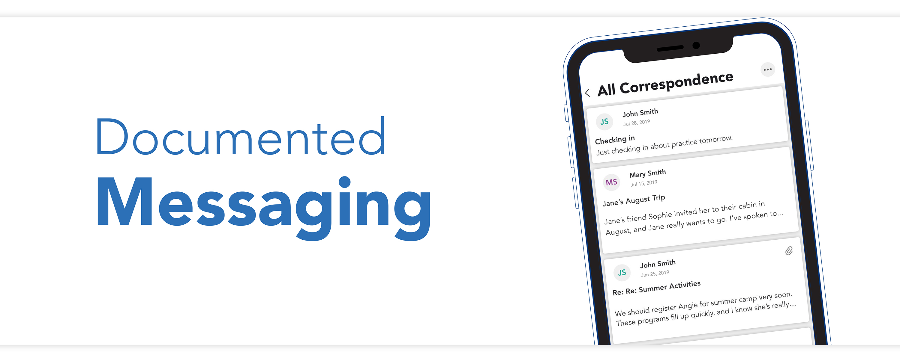 The concrete records and first-viewed timestamps on the Message Board give you absolute peace of mind while using the OFW co-parenting app.